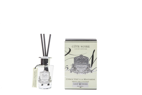 Cote Noire 100ml Diffuser Set - Persian Lime & Tangerine - Silver - GMSS15022