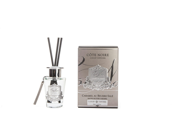 Cote Noire 100ml Diffuser Set - Salted Butter Caramel - Silver