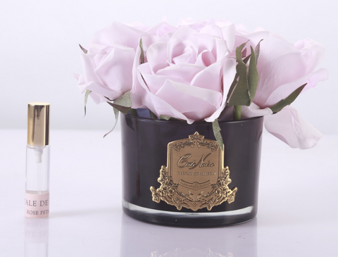 Côte Noire Perfumed Natural Touch 5 Roses in Black - French Pink