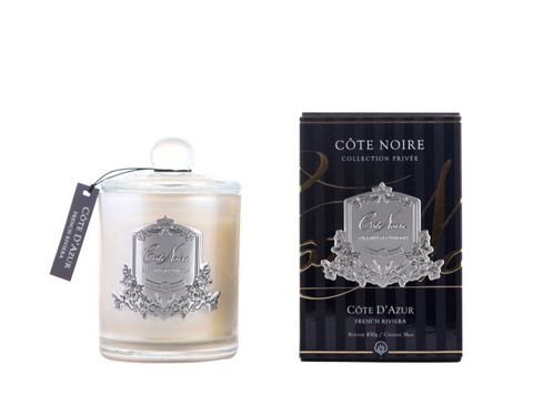 Côte Noire 450g Soy Blend Candle - French Riviera Silver