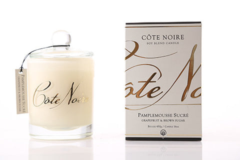 Côte Noire 450g Soy Blend Candle - Grapefruit & Brown Sugar