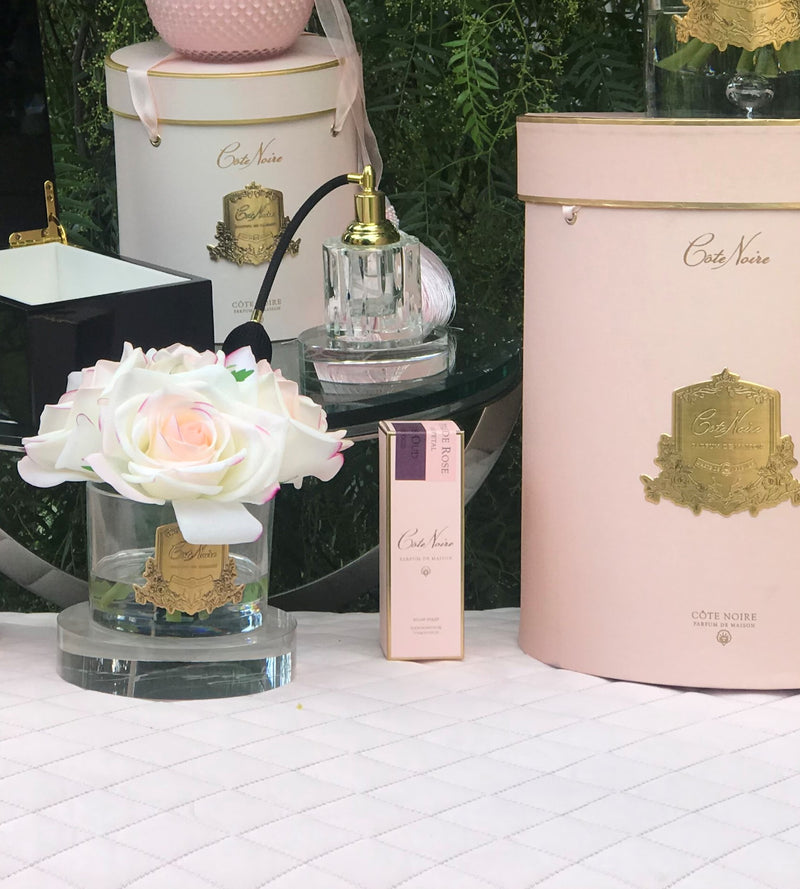 Cote Noire Perfumed Natural Touch 5 Roses - Clear - Pink Blush - Pink Box - GMR88