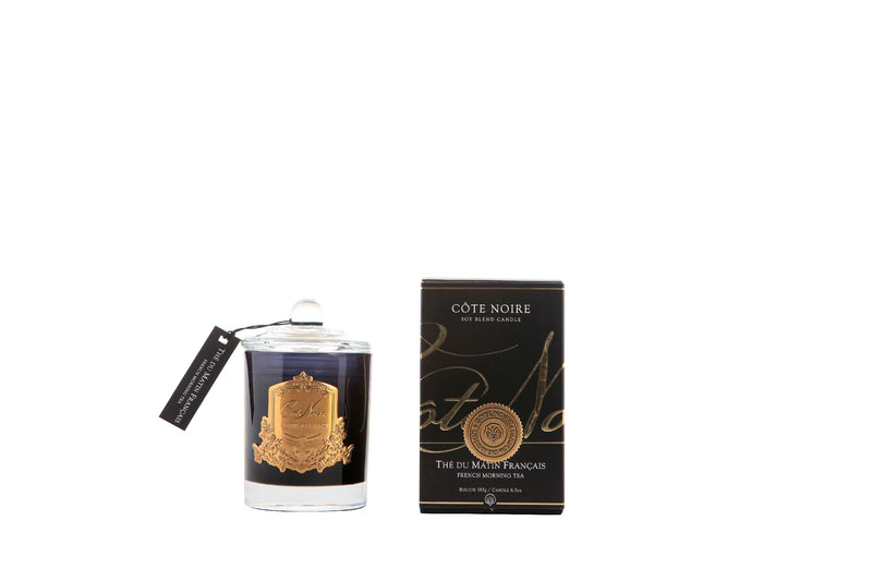 Cote Noire 185g Soy Blend Candle - French Morning Tea - Gold - GML18501