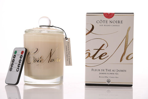 Côte Noire 450g LED Candle- Jasmine Flower Tea