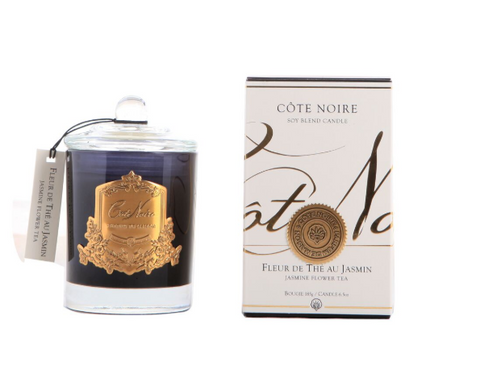 Côte Noire 185g Soy Blend Candle - Jasmine Flower Tea Gold