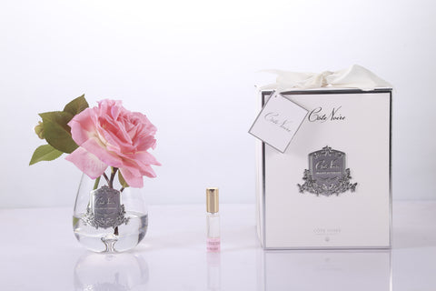 Cote Noire - Luxury Range Tea Rose Clear Glass - White Peach