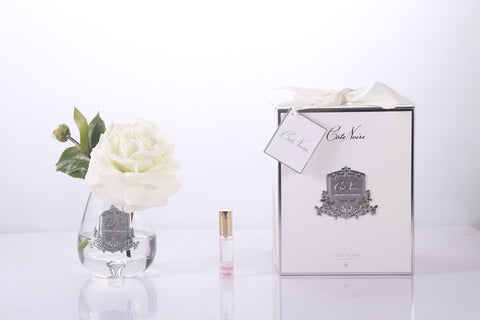 Cote Noire Luxury Range Tea Rose Clear Class - Ivory White