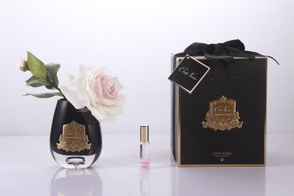 Cote Noire - Tear Drop  Tea Rose in Black Glass - Pink Blush - STR04