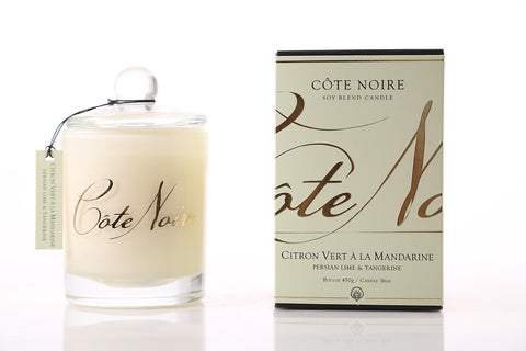 Côte Noire 450g Soy Blend Candle - Persian Lime & Tangerine