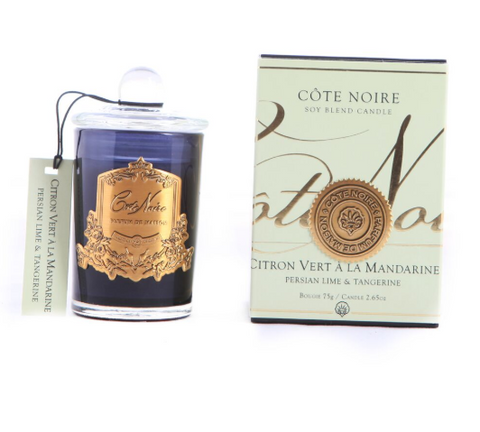 Côte Noire Soy Blend 75g Black & Gold - Persian Lime & Tangerine 75g
