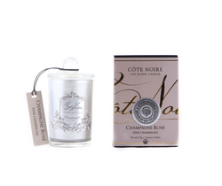 Cote Noire 75g Soy Blend Candle - Pink Champagne - Silver - GMS07518