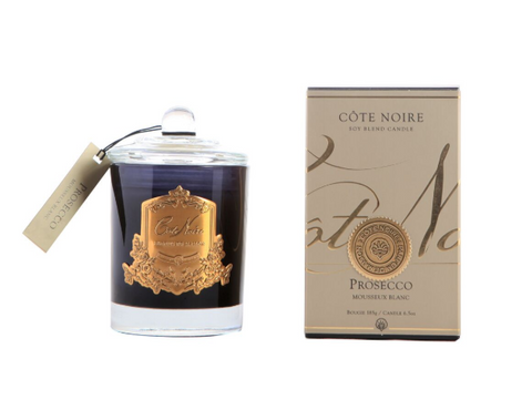 Côte Noire 185g Soy Blend Candle -Prosecco -  Gold