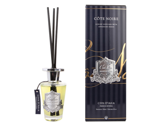Côte Noire 150ml Diffuser Set - French Riviera Silver