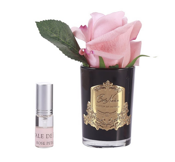 Cote Noire Perfumed Natural Touch Rose Bud - Black - White Peach - GMRB45