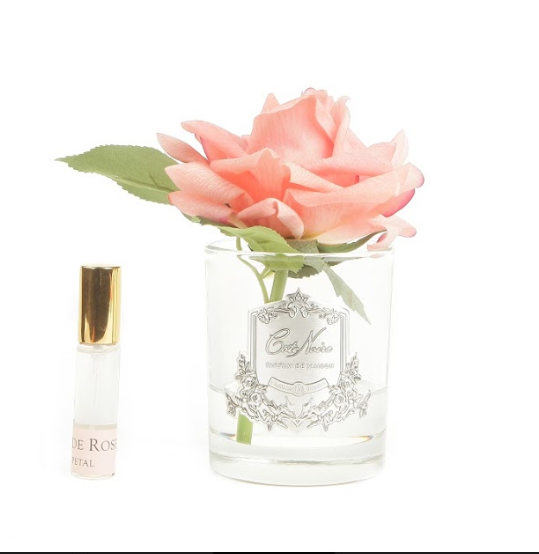 Cote Noire Perfumed Natural Touch Single Rose - Clear - White Peach - GMR05