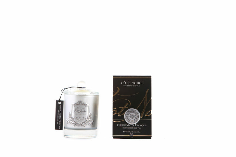 Cote Noire 185g Soy Blend Candle - French Morning Tea - Silver - GMS18501