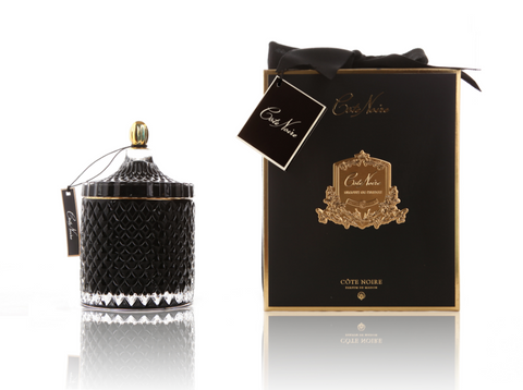 Grand Black Art Deco Candle