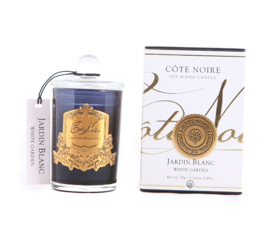 Cote Noire 75g Soy Blend Candle - White Garden - Gold - GML07504
