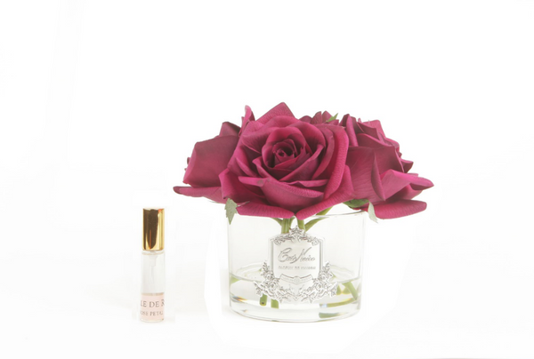 Côte Noire Perfumed Natural Touch 5 Roses - Clear - Carmine Red  - GMR64