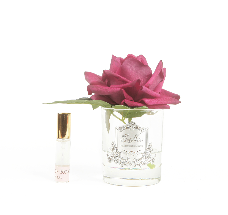 Cote Noire Perfumed Natural Touch Single Rose - Clear - Carmine Red - GMR04