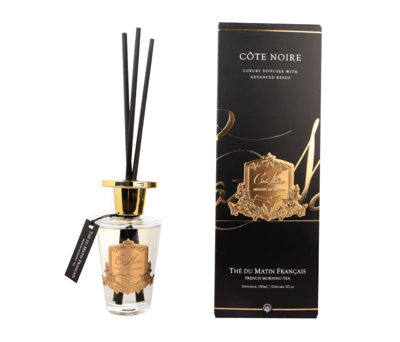 Cote Noire 150ml Diffuser Set - French Morning Tea - Gold - GMDL15001