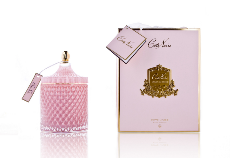 Grand Pink Art Deco Candle