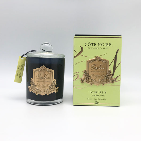Cote Noire 450g Soy Blend Candle - Summer Pear - Gold - GMC45014