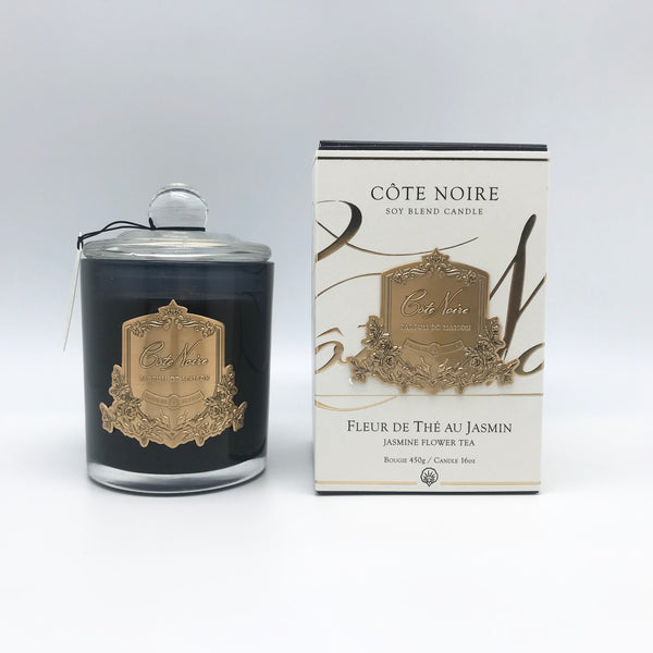 Cote Noire 450g Soy Blend Candle - Jasmine Flower Tea - Gold - GMC45020