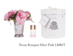Peony Bouquet-silver Pink