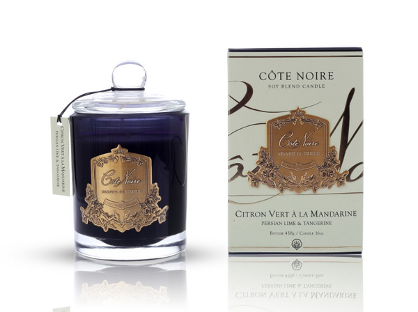 Cote Noire 450g Soy Blend Candle - Persian Lime and Tangerine - Gold - GML45022