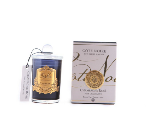 Côte Noire Soy Blend 75g Black & Gold Candle - Pink Champagne 75g
