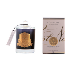 Côte Noire Soy Blend 185g Gold & Black Candle - Pink Champagne - GML18518