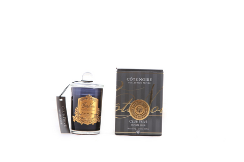 Côte Noire 75g Soy Blend Candle Gold- Private Club