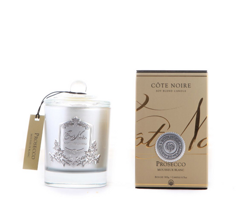 Côte Noire 185g Soy Blend Candle -Prosecco - Silver