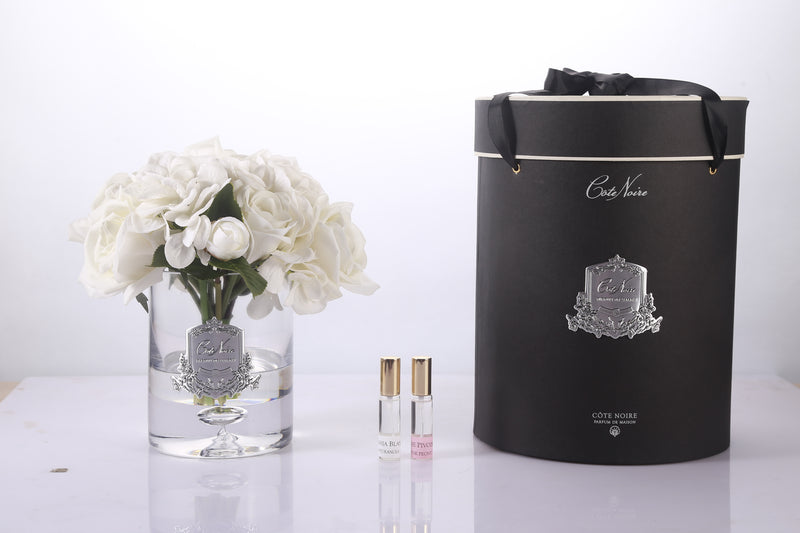 Cote Noire Luxury Range Roses and Hydrangeas - Ivory