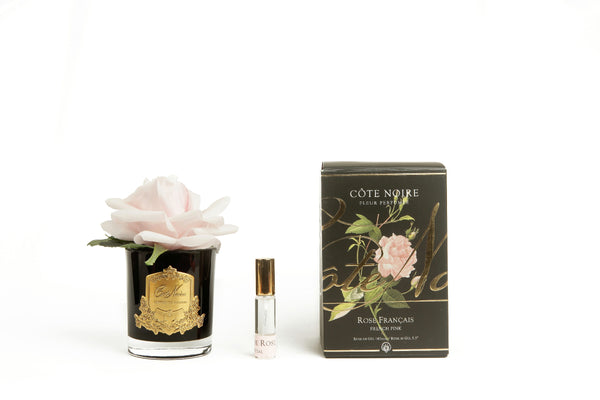 Cote Noire Perfumed Natural Touch Single Rose - Black - french pink - GMRB06