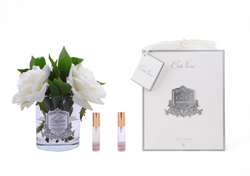 Côte Noire Perfumed Ivory English Rose in Clear Glass