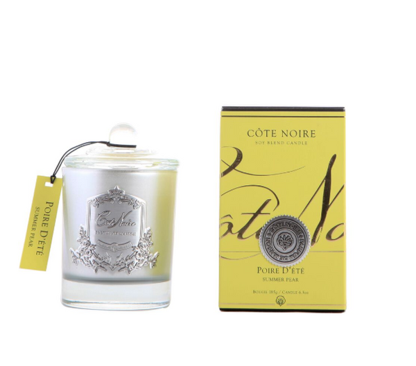 Côte Noire 185g Soy Blend Candle - Summer Pear Silver