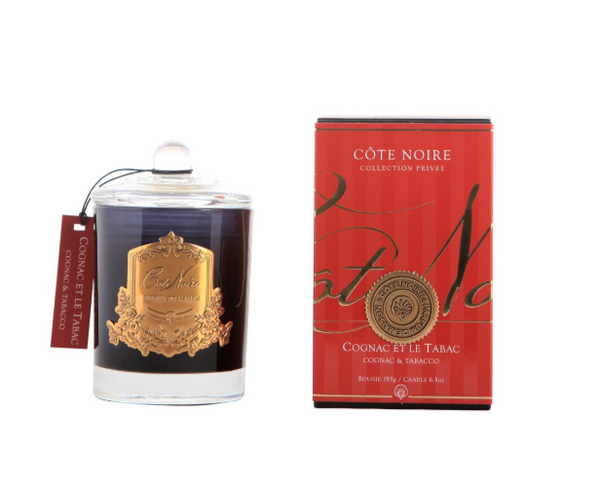 Cote Noire 185g Soy Blend Candle - Cognac & Tabacco - Gold - GML18524