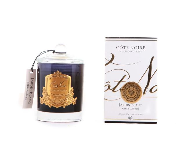 Cote Noire 185g Soy Blend Candle - White Garden - Gold - GML18504
