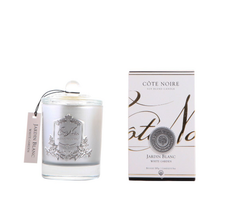 Côte Noire 185g Soy Blend Candle - White Garden Silver