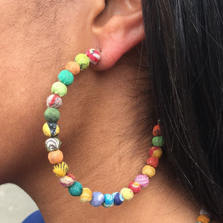 Vibrant Hoop Earrings