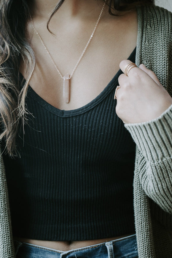 Wander Love Necklace- Gold