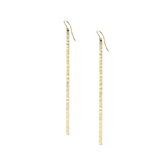 Hammered Stick Earrings