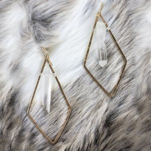 Triangle Crystal Earrings