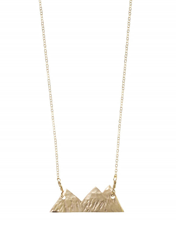 Mountain Necklace- Gold