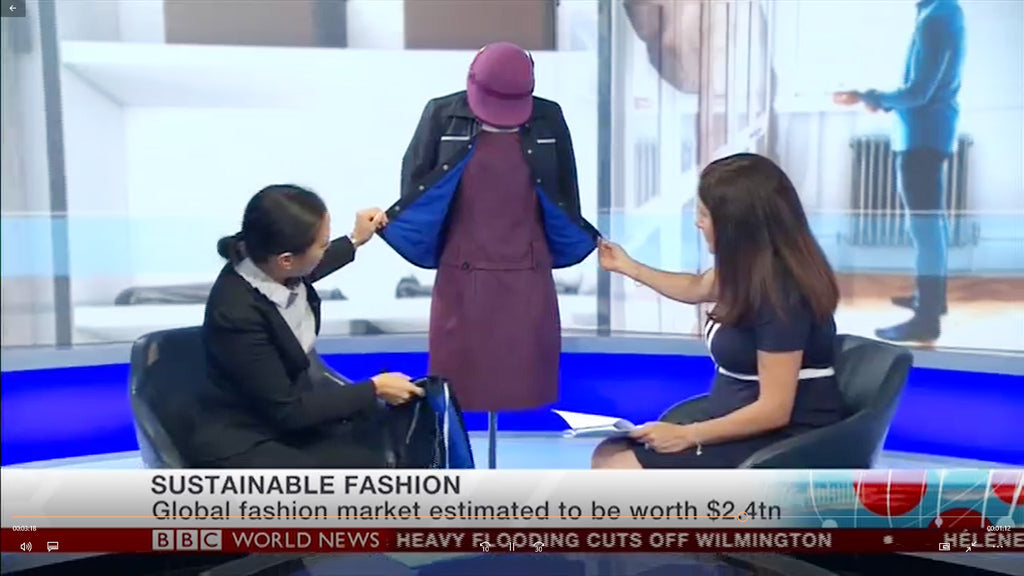 Watch Founder Bernice Pan's BBC World TV News interview for #LFW2018. She outlines why & how the industry needs to embrace a more responsible fashion future