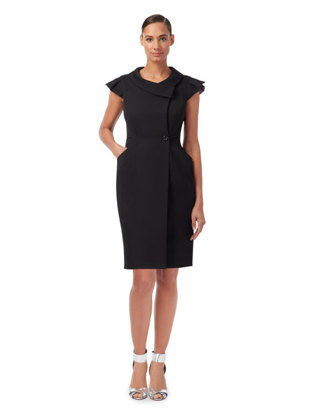 D064 _ ARCHITRAVE _ Tailored Wrap Dress