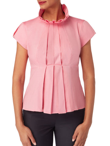 B063_DAHLIA _Pleat Front A- Line Top
