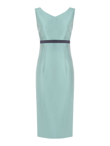 D061s_ALLIUM_Sleeveless High Waist Fitted Dress